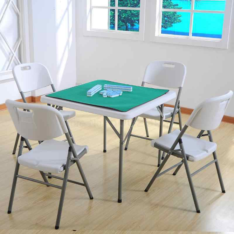 Foldable Table Household Square 4 Person Mahjong Table And Chair Rental Simple And Simple Dining Small Square Table Aliexpress