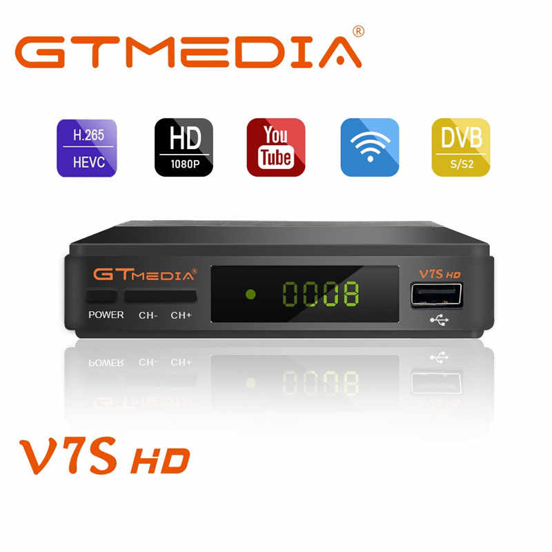 Gtmedia V7S 1080P Digitale Receptor DVB-S2 Satellietontvanger Tv Tuner Hd Box Cline Decoder Biss Vu Pvr Wifi Youtube freesat V7