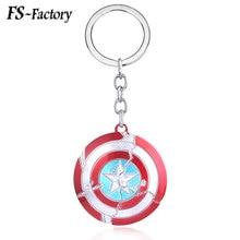 Avengers 4 Endgame Captain America Battle Damage Shield Keychain Steve Rogers Logo Key Chains for Women Men Car Keyring Jewelry
