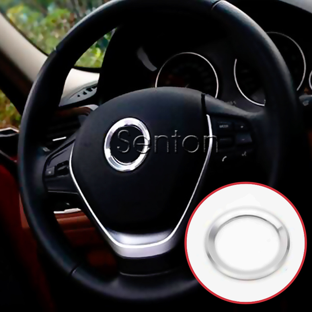 M Power M 성능 자동차 핸들 원형 커버 스티커 BMW E90 E36 E34 액세서리 BMW E46 E60 E39 용