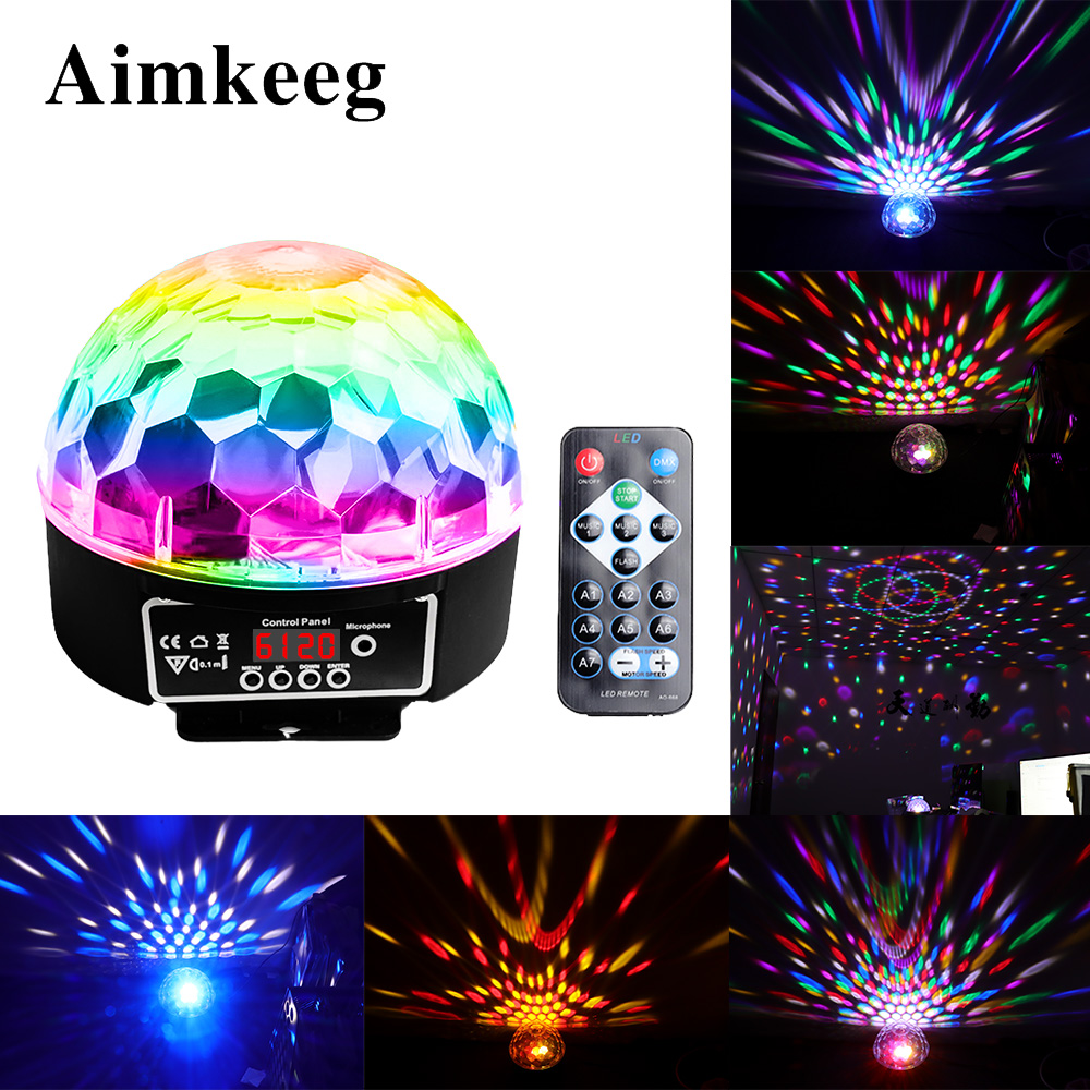9 Colors Magic Ball Effect Light Led Stage Party Lamp DMX 512 Controller DJ Par Light Voice-activated Stage Lights Lumiere Laser