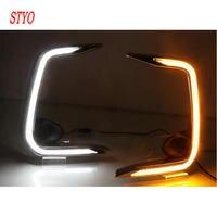 STYO LED Light Guide Daytime Running Lights DRL LED Fog Lamp for Toyota1 Corolla 2019 2020