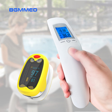 Medical Baby Infrared Thermometer & Rechargeable Finger Pulse Oximeter blood oxygen Heart Rate Monitor oximetro de dedo boxym medical finger pulse oximeter blood oxygen heart rate monitor
