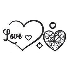 YaMinSanNiO Love Heart Metal Cutting Dies for Craft Scrapbooking Letter Card Making DIY Embossing Die Cut Decoration