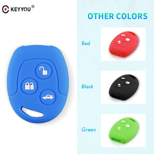 KEYYOU 3 Button Remote Silicone Car Fob Key Case Cover For Ford Focus Mondeo Festiva Fusion Suit Fiesta KA MK4 Holder Protector(China)