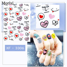 Наклейки для ногтей morixi с рисунками из мультфильмов женщин