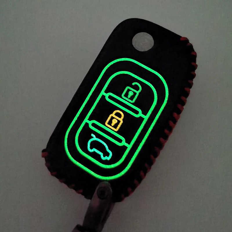 発光ソフトレザー車のキーケースカバー財布のための Lada ベスタグランタ XRay カリーナ Priora セダンスポーツ 3 ボタン保護シェル