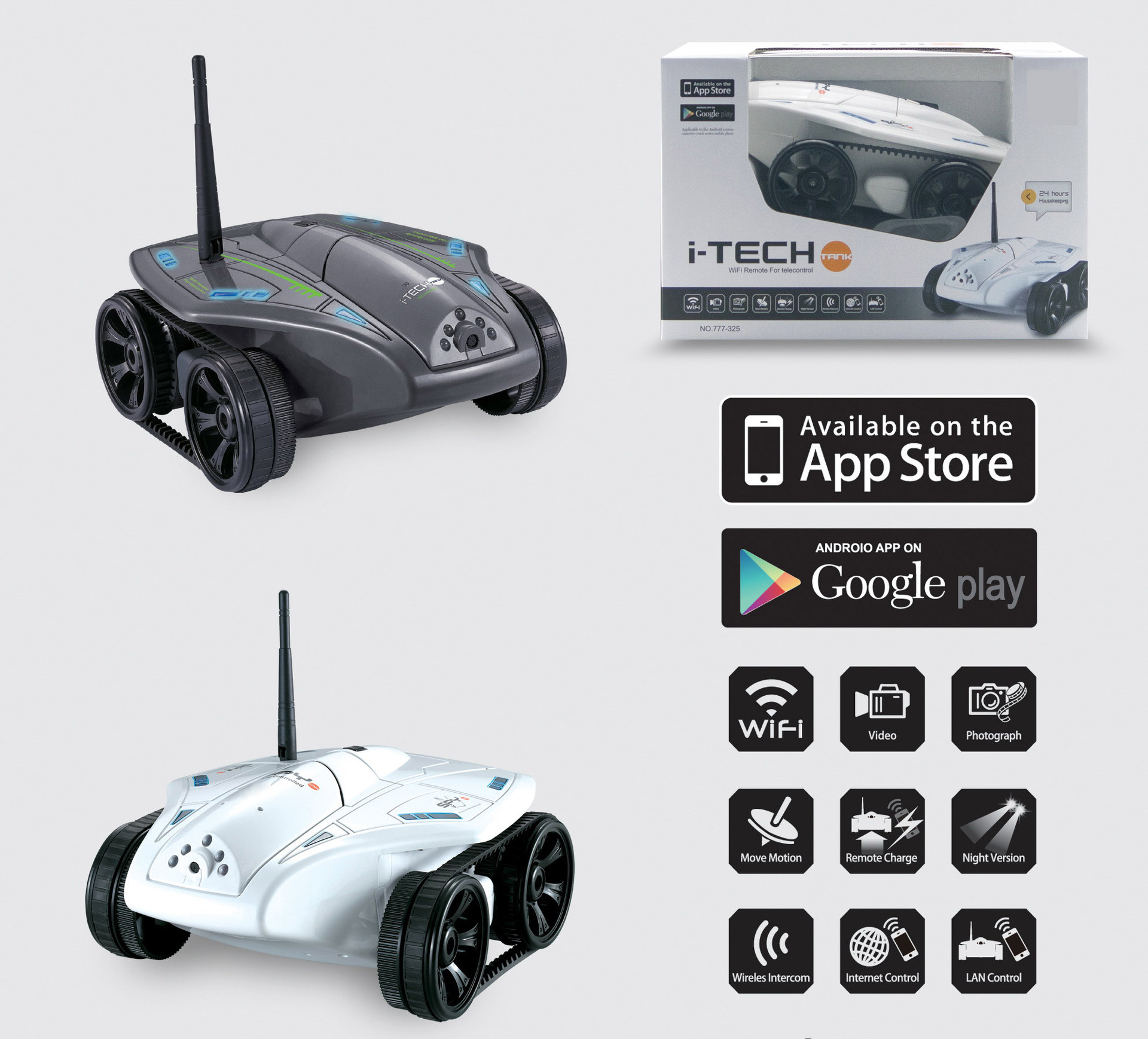 Wifi RC Remote-Control Rc-Tank Toys Car Pixels-Camera Gifts Real-Time-Transmission Kids