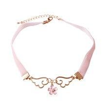 Sakura-Card Necklace Captor Jewelry-Accessories Angel Fashion Metal 10pcs/Lot Wing Enamel