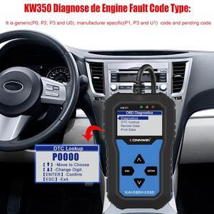 Image 2 - NEUE! KONNWEI KW350 OBD2 Auto Scanner Code Reader Scanner OBD2 Auto diagnose Tool für AUDI/SEAT/SKODA/VW golf Obd2 Auto Werkzeug 8980