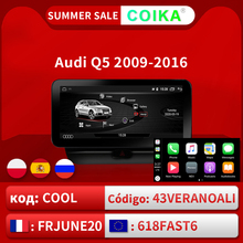 """COIKA 10.25"""" Android 10.0 System Car GPS Navi Radio For Audi Q5 2009 2017 IPS Touch Screen Stereo Google WIFI BT Carplay 2+32GB"""