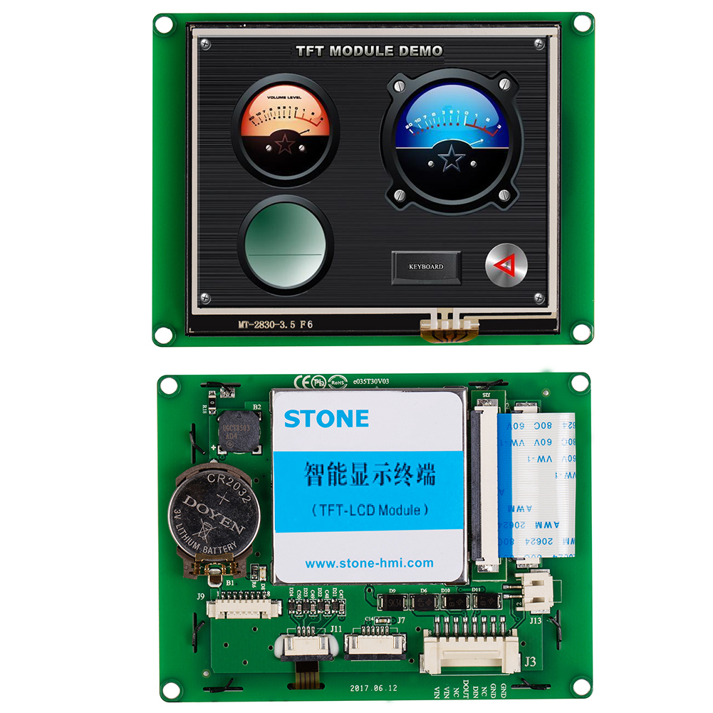 STONE 3.5 Inch HMI TFT LCD Display Screen With Touch Panel +Control Drvie For Industrial Use