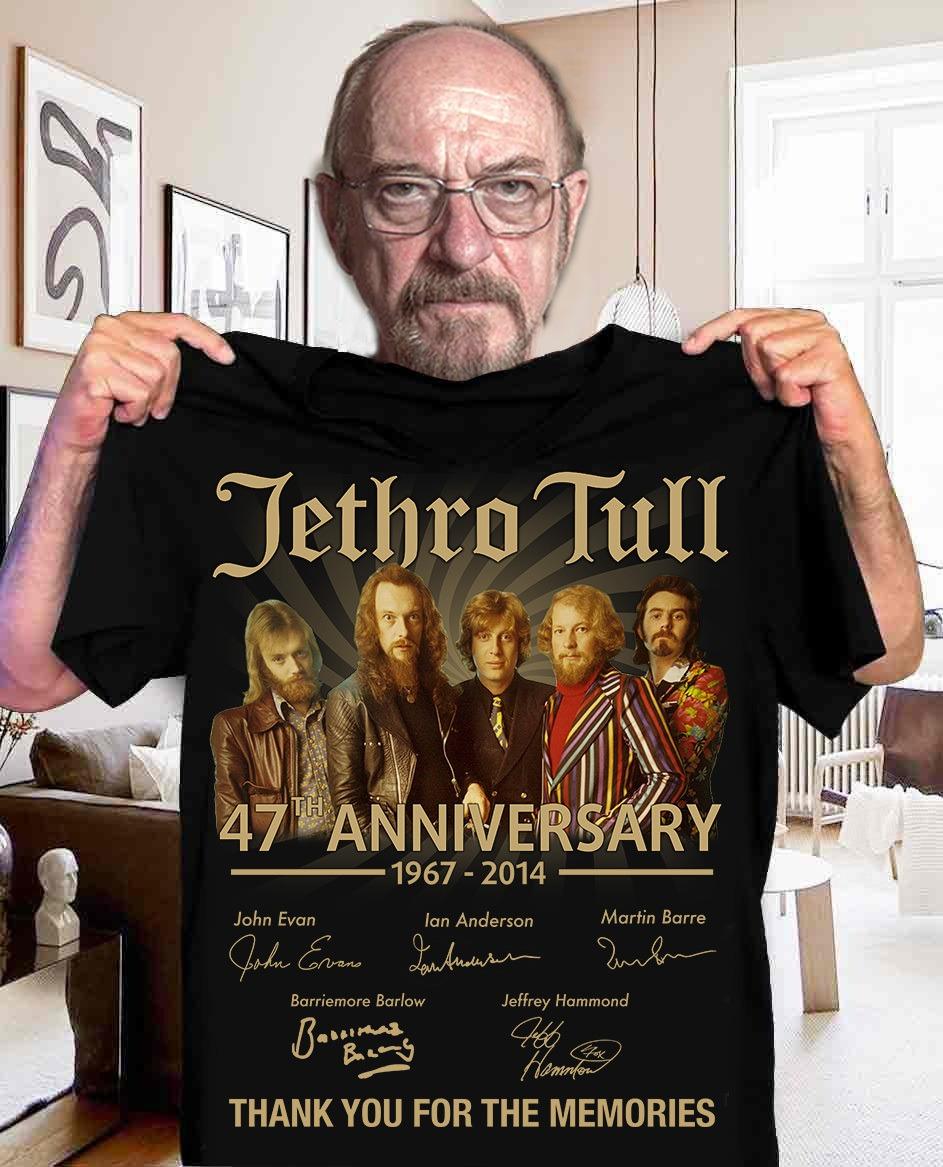 Jethro Tull 47Th Anniversary 1967 2014 Signature Men T Shirt Cotton S 5Xl Black