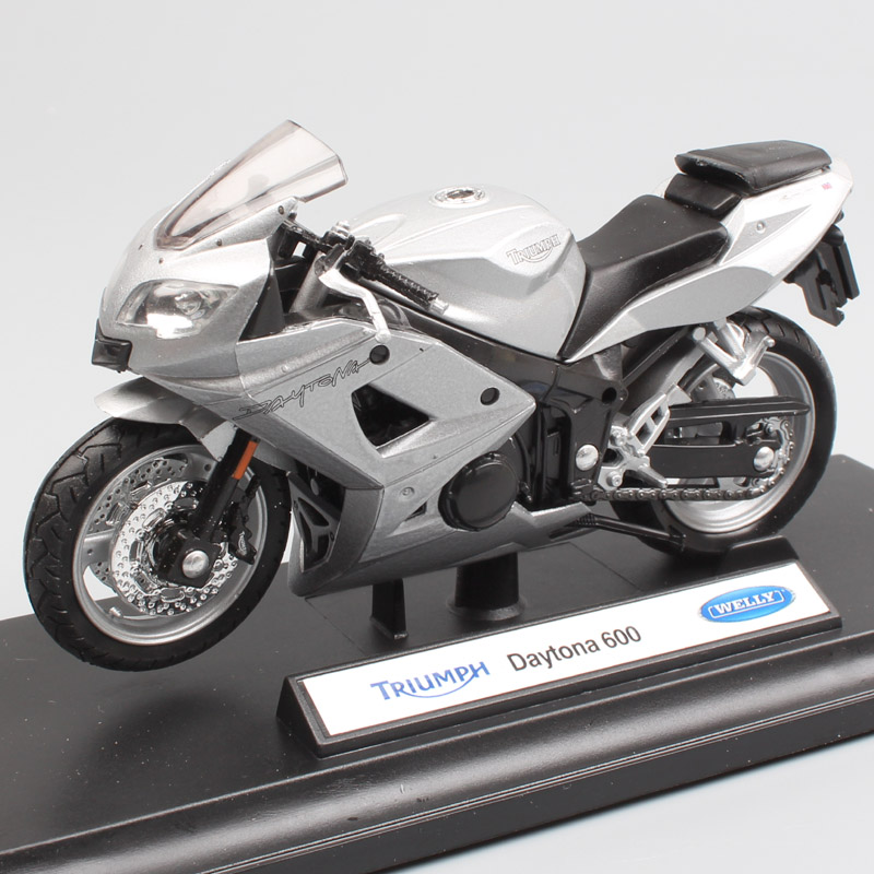 1:18 Scale Mini Welly Triumph Daytona 600 Motorcycle Diecasts & Toy Vehicles Bike Moto Model Cycle Toy Miniature For Collection