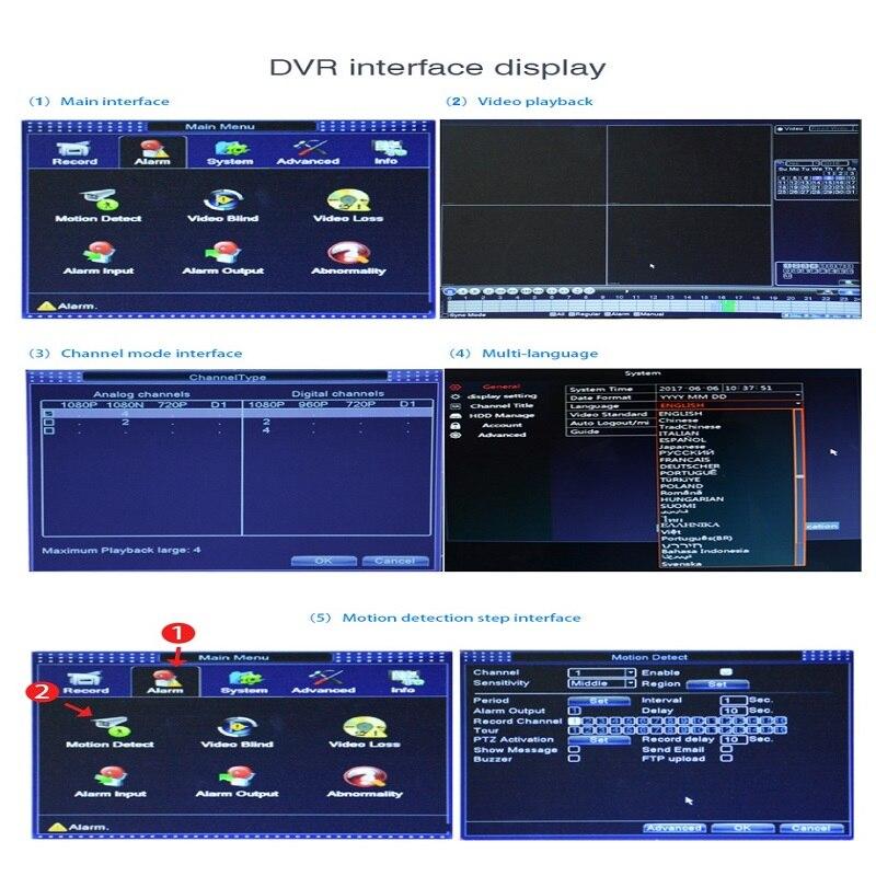 JOOAN 4216T 16CH REJESTRATOR CCTV H.264 HD-OUT P2P Chmura rejestrator - Bezpieczeństwo i ochrona - Zdjęcie 5