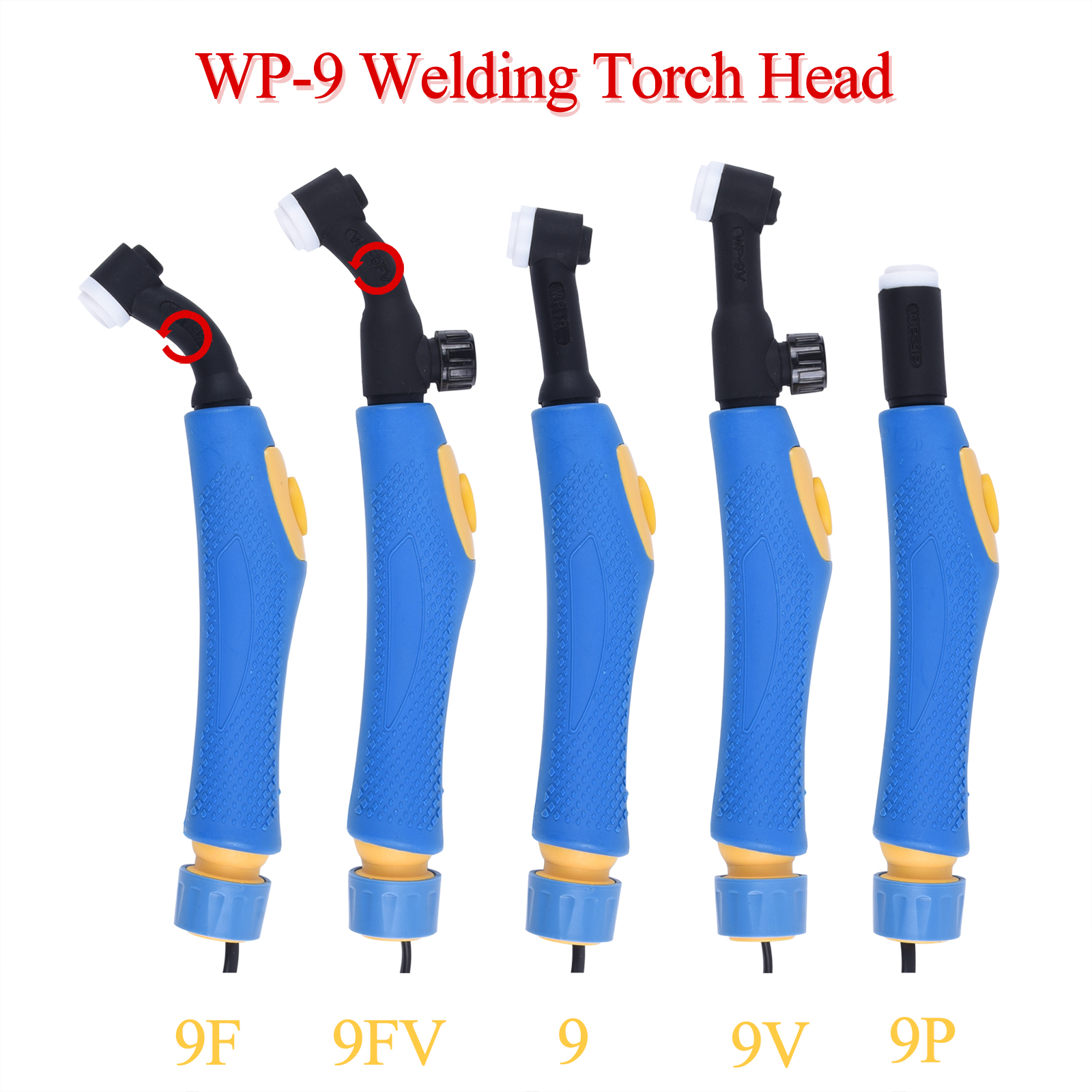 WP9 WP 9F 9F 9V 9FV 9P SR9 SR9F SR9V SR9FV SR9P TIG Torch Body Air Cooled Head Human Engineering Design Rotatable 125 AMP