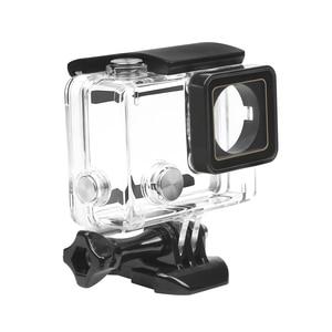 Image 3 - לירות 30M מקרה עמיד למים עבור GoPro Hero 4 3 + שחור כסף פעולה מצלמה עם סוגר מגן דיור עבור ללכת פרו 4 אבזר