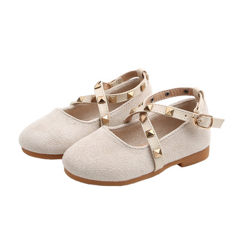 Casual Non-slip Soft Children Simple Flats Kids Toddler Baby Shoes Spring Autumn Little Girls Suede Shoes Rivets Princess Shoes цена 2017