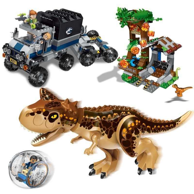Совместимые Legoings Динозавры юрского периода 2 парка павший Королевство Indoraptor строительные блоки игрушки Кирпичи синий Оуэн Т Рекс Динас