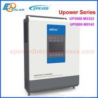 EPever MPPT 30A Solar and Utility Charger Inverter 24V48V to 220V230V 3000VA Pure Sine Wave Hybrid Inverters UP3000 M3322 6322