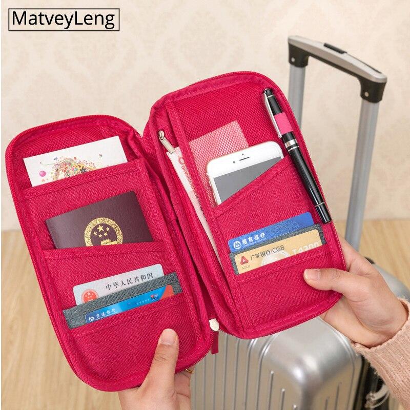 Travel Passport Wallets Credit Card Cover Large Capacity Waterproof Document Organizer Travel Accessories Passport Holder  Docum