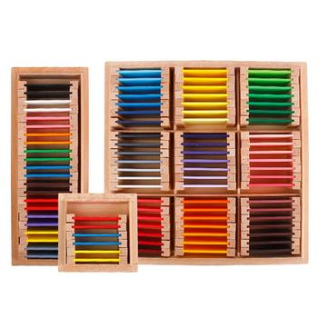 Montessori Teaching Toy Wood Color Blocks Children Recognizing Color Toy Educational Toy Preschool Kindergarten Teaching Aids