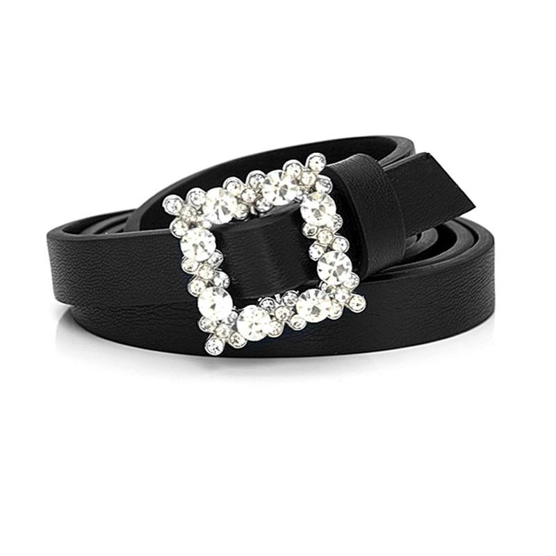 Cinto Strass Waist Belt Rhinestone Cute Belts For Women Shinny Diamond Cinturon Mujer 2020 Fashion PU Leather Dress Coat Riem