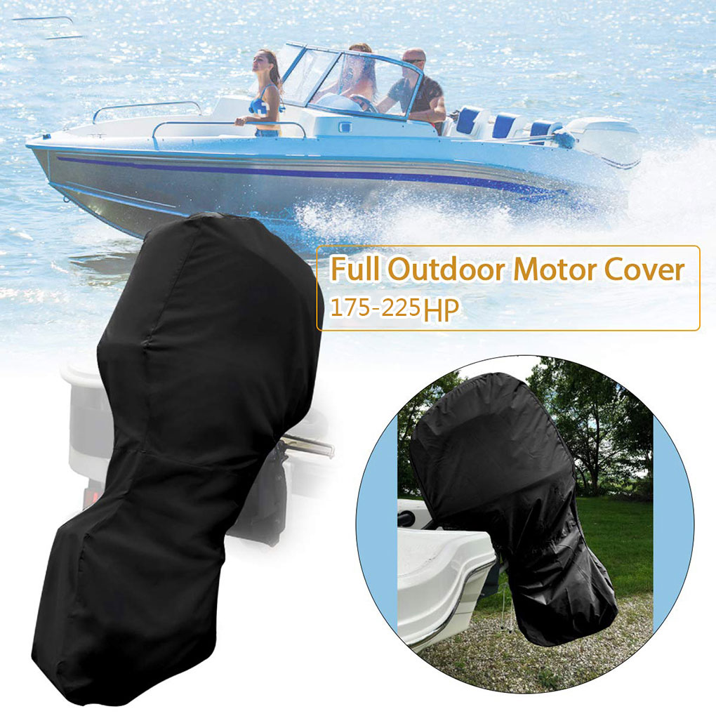 Outboard Motor Full Cover PVC Coating Oxford Waterproof Boat Motor Engine Cover - 6-15HP image