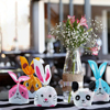 50PCS Rabbit Ear Bags Cookie Plastic Bags&Candy Gift Bags Party Favors DIY Biscuits Snack Baking Package Event Party Supplies
