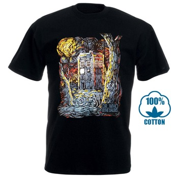 Doctor Dr Who Daleks Tardis Medium T Shirt Tee Shirt Van Gogh Phone Booth Black 012290 doctor dr who daleks tardis medium t shirt tee shirt van gogh phone booth black 012290
