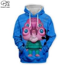 New Rick and Morty 4 Alien Glootie 3D print Men Funny Hoodies women Sweatshirts streetwear unisex zipper jacket pullover tshirt