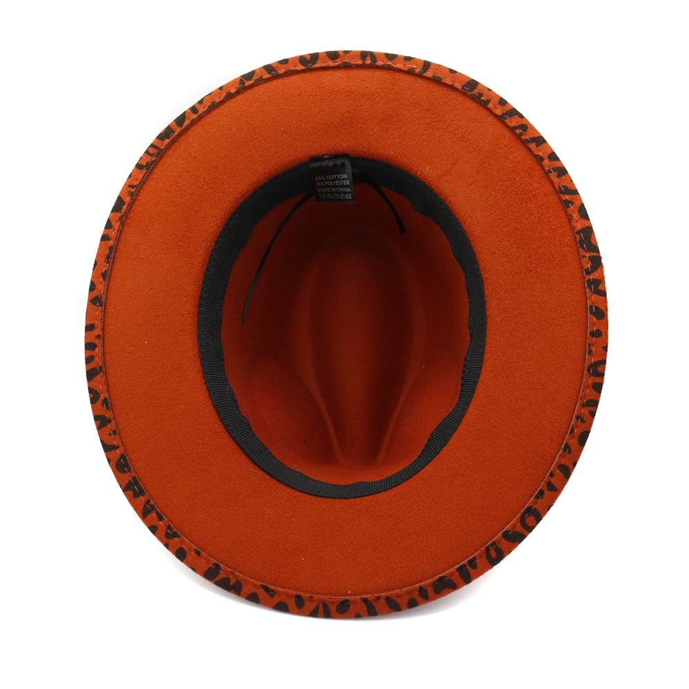 DINGDNSHOW 2019 New Fedora Hat Wool Wide Brim Warm Winter Cap Print Felt Hats for Women Vintage Hat in Women 39 s Fedoras from Apparel Accessories