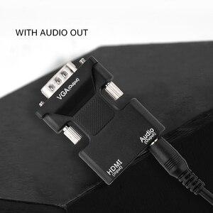 Image 4 - Adaptador hdmi para vga fêmea macho, conversor de vídeo e cabo de áudio analógico digital para ps3 pc laptop tv box monitor projetor