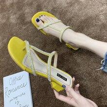 Summer Shoes Woman Sandals Crystal Flat Sandalias Mujer 2020 Rhinestone Gladiator Beach Sandals Ladies Flip Flops vtota women sandals 2017 flip flops flats shoes sandals woman rhinestone casual sandalias mujer ladies beach summer shoes a6
