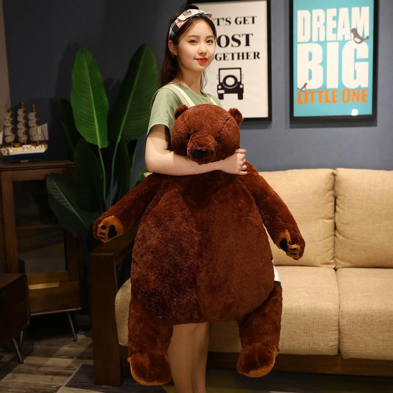 Brown Bear Plush Stuffed Animal Soft Big Teddy Bear Pillow Cartoon Bruins Peluches Toys Birthday Gifts For Girls Kids Just6F