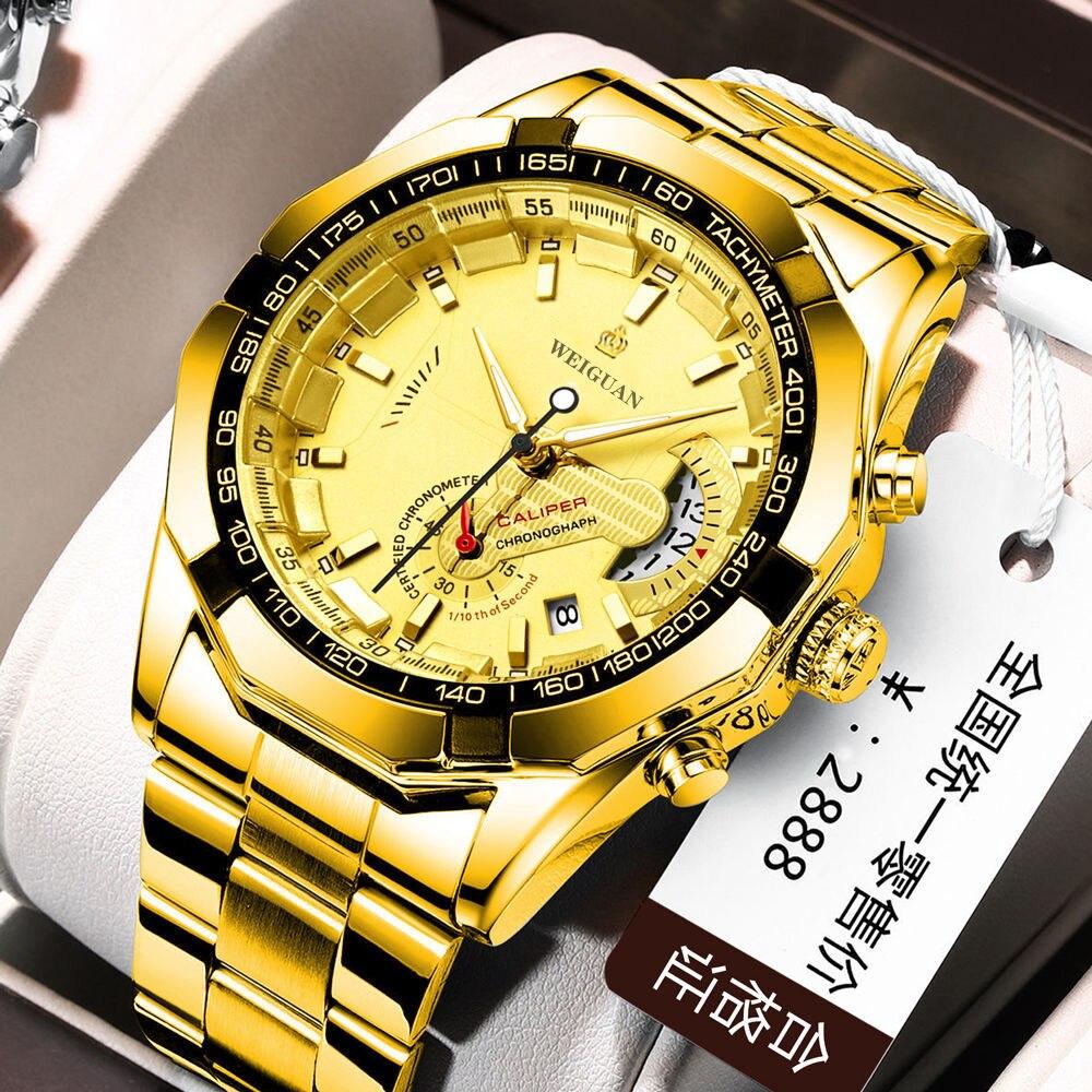 Watch men Smat watch Mens Watches Waterproof Wrist Watch Date Quartz Watch For Men Sports Clock Luxury Steel watch strap 1