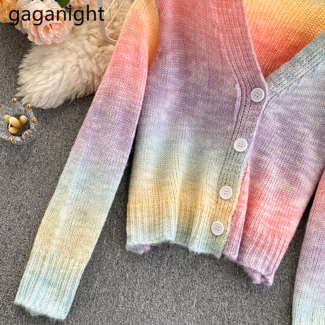 Soft Rainbow Knitted Cardigan 6