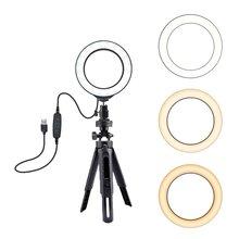 Selfie Ring Lamp Led Ring Light Selfie With Tripod Ring For Selfie Phone Video Photography Lighting For Youtube Phone Holder фонарь aceshley led cелфи кольцо aceshley selfie ring light