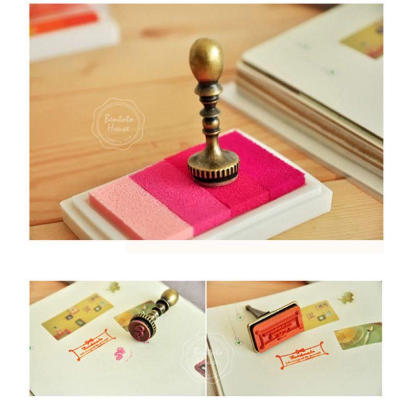 6Pcs 6Pcs Kids Fingerprint Painting Colorful Ink Pad Gradient Colors Stamp Partner Baby DIY Art Craft Seal Graffiti Tool Early