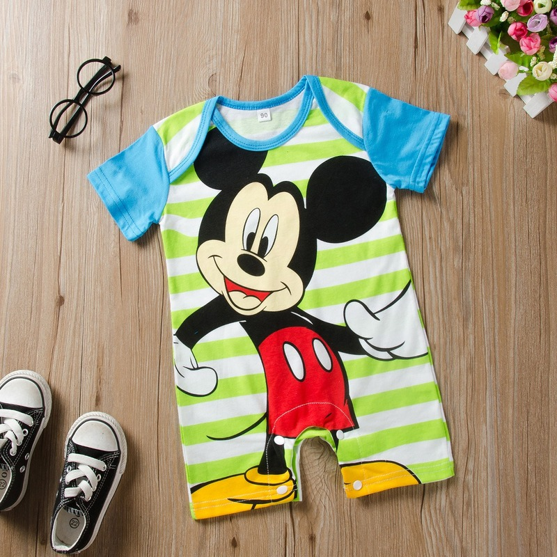 Mickey Baby Rompers Disney Infant Jumpsuits Outfits Newborn Baby Girl Clothes Boy Clothing Roupas Bebe Minnie Kids Clothing