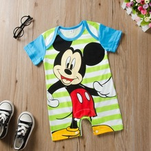 Mickey Baby Rompers Disney Infant Jumpsuits Outfits Newborn Baby