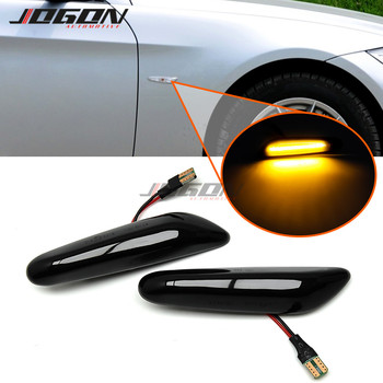 For BMW E81 E82 E87 E88 E90 E91 E92 E93 E60 E61 X3 E83 LED Dynamic Turn Signal Side Marker Fender Light Blinker Sequential Lamp image