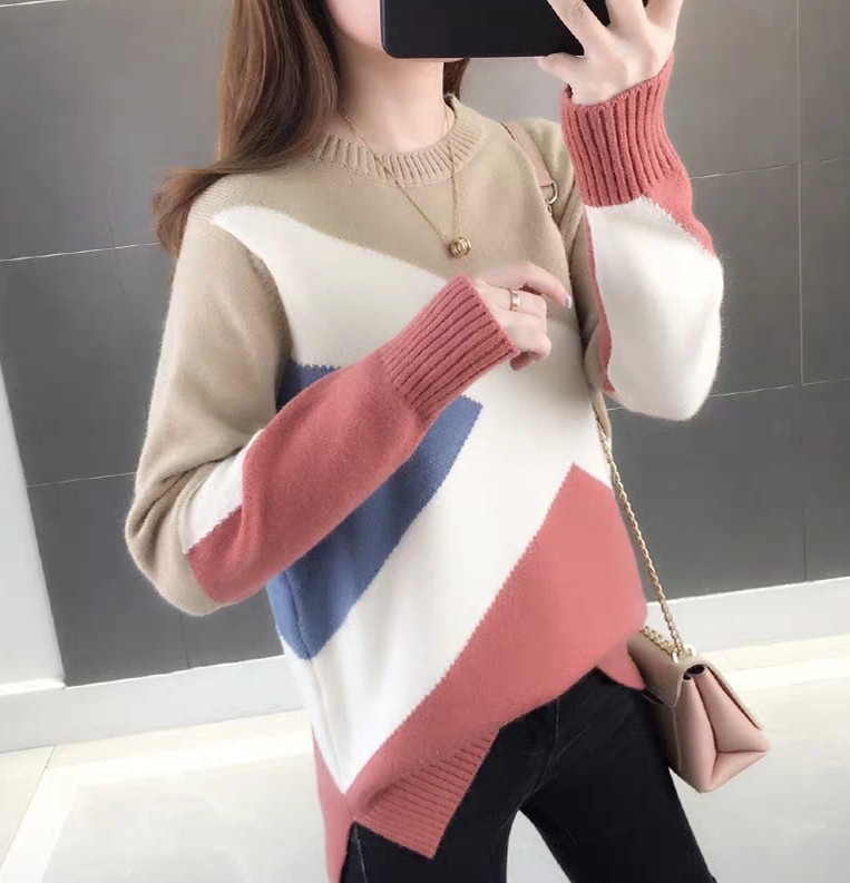 Autumn And Winter 2019 New Sweater Gray Slim Bottom Shirt Long Sleeve Tight Knitted Shirt Thickening
