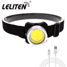 Мини переносной налобный фонарь COB светодиодный налобный фонарь внутренний Аккумуляторный головной светильник