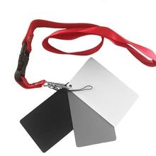 3 в 1 8,5X5,5 см Белый Черный 18% Серый Цвет Баланс карт цифровая серая карта с шейным ремешком для DSLR камеры баланс белого