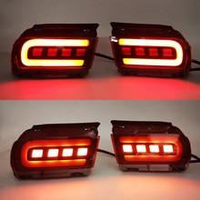 2 uds Reflector LED para Toyota Land Cruiser Prado 150 LC150 FJ150 GRJ150 2010 - 2019 parachoques trasero llevó la luz de la cola de la luz de freno