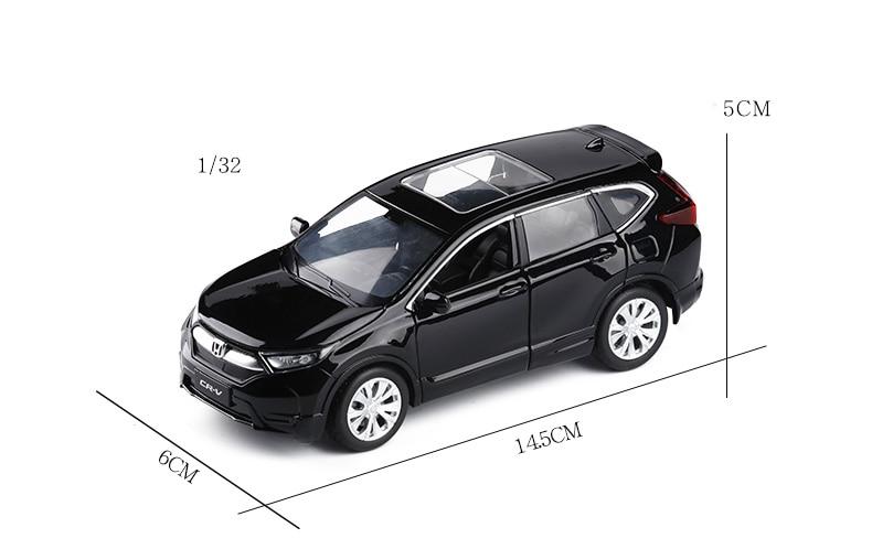 1//32 Jackiekim Honda CRV CR V  Diecast Model CAR SUV Toys kids Gifts Pull Back