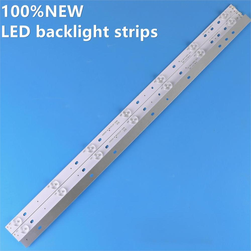 3pcs X 32inch 32PHF5755/T3 GJ-2K15 D2P5-315 LED Strips W/Optical Lens Fliter For TPT315B5 32L20 614mm 7-Leds 3V