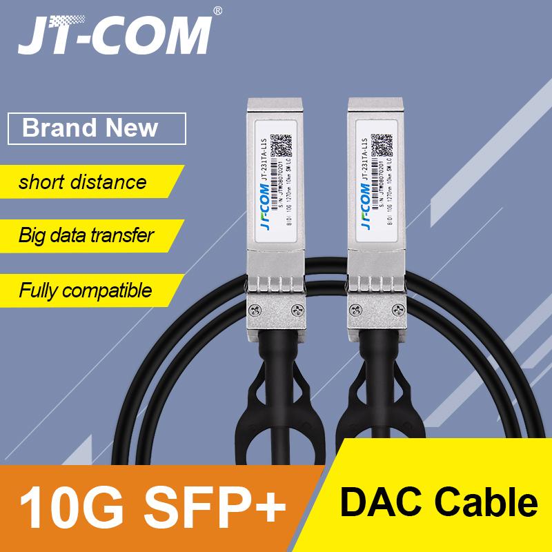 10Gb SFP+ DAC Twinax Cable, Passive, Compatible with Cisco SFP-H10GB-CU2M, Ubiquiti, Intel, Mikrotik, Netgear, D-Link, 1m,2m,5m