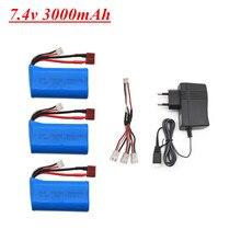 7,4 V 3000mAh 18650 lipo Batterie für Q46 Wltoys 10428 /12428/12423 RC Auto Teile 2s 7,4 v batterie für Wltoys 144001 A959-B A969-B